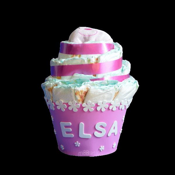 figura de pañales cupcake original