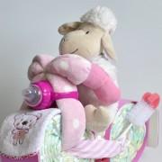 baby shower moto de pañales