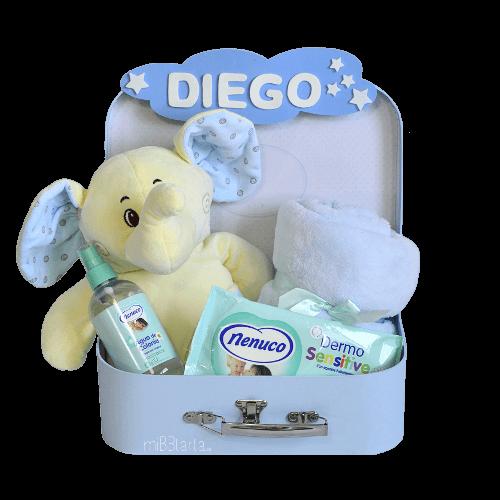 canastilla recién nacido online elefante