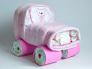 coche de pañales baby shower