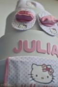 Pastel de pañales Hello Kitty personalizado