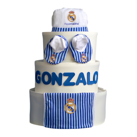 65d56d4c62b66 tarta de pañales real madrid regalo bebe real madrid ...