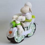regalos nacimiento moto de pañales