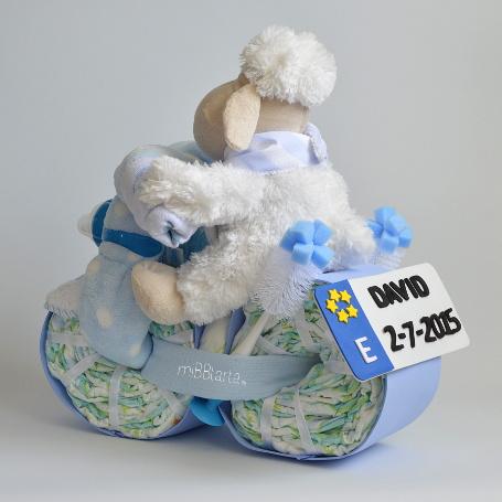 Moto de pa ales tartas de pa ales originales regalo beb - Cestas de mimbre para bebes ...