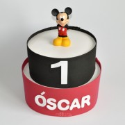 tarta de pañales Mickey Mouse
