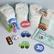 tarta de pañales coches