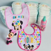 tarta de pañales personalizada primer cumpleaños Mickey Minnie