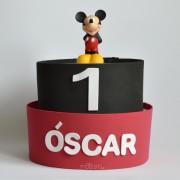 tarta de pañales primer cumpleaños Mickey Minnie