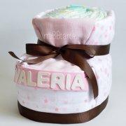 tarta de pañales zapatilla