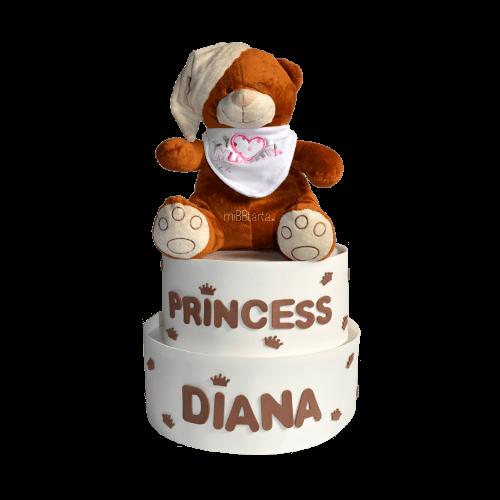 Tarta de pañales Prince & Princess