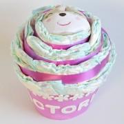 tarta de pañales cupcake