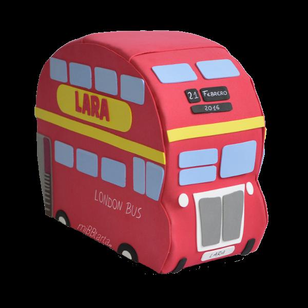Autobús de pañales de Londres con regalitos para el bebé