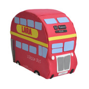 Canastilla de pañales autobús Londres original con regalos para bebé
