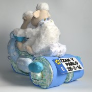 triciclo de pañales para mellizos