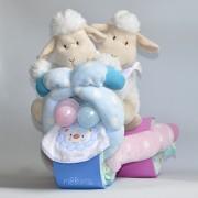 triciclo de pañales para gemelos