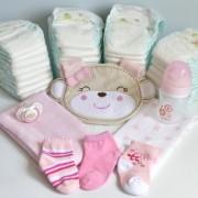 oso con pañales para baby shower