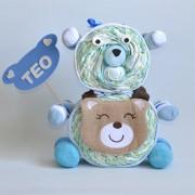 oso de pañales niño