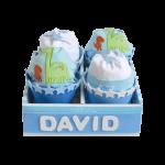 caja de cupcakes de pañales
