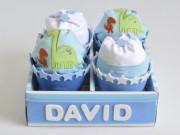 caja de cupcake de pañales personalizada