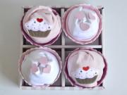 caja de cupcake de pañales babyshower