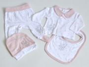 conjunto recién nacido cuna de pañales