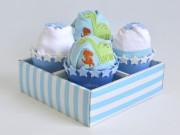cupcake de pañales babyshower