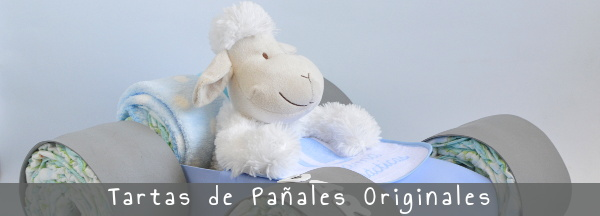 tartas de pañales originales o figuras con pañales