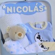 cesta recién nacido Mickey Minnie