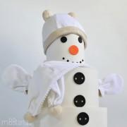 regalo baby shower navidad muñeco de nieve