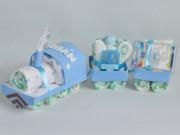 figura de pañales tren