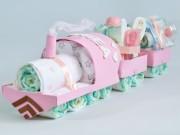 tarta de pañales niña tren