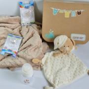 canastilla recién nacido manta