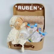 cesta bebé manta topitos