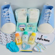 fiesta baby shower zapatillas