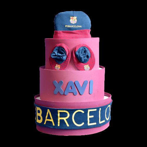 Tarta de pañales F.C. Barcelona