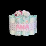 Mini Tarta de pañales Chupetes