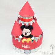 Castillo de pañales niño Mickey