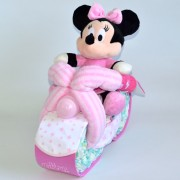 moto de pañales Minnie