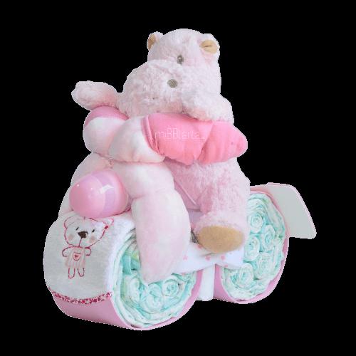 moto de pañales niña