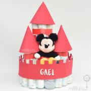 Tarta de pañales castillo Mickey
