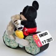 tarta de pañales moto Mickey
