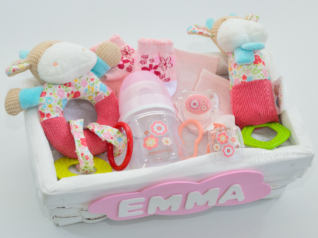 Regalos de reci n nacido cesta de beb vaquitas - Canastillas para bebes ...