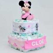 tarta de pañales Minnie