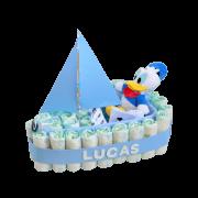 Barco de pañales Donald