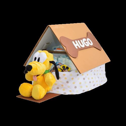 tarta de pañales casita de Pluto