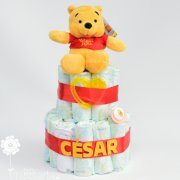 tarta de pañales Disney Winnie