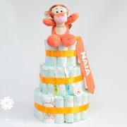 tarta de pañales Winnie Tigger