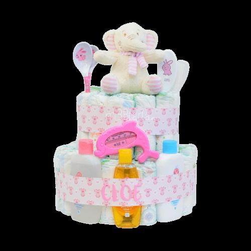 tarta de pañales niña