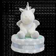 tarta de pañales unicornio