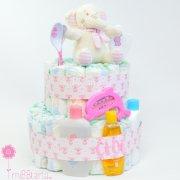 tartas de pañales para niña